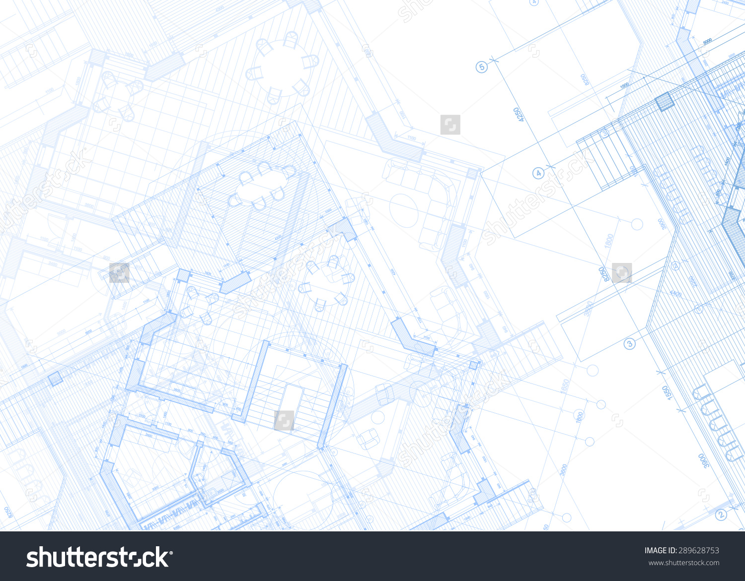 Stock Vector Architecture Design Blueprint Plans Vector
